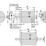 A28 Incremental Rotary Encoder Drawing