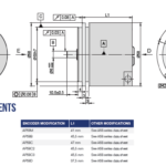 AP58 Programmable Rotary Encoder Drawing