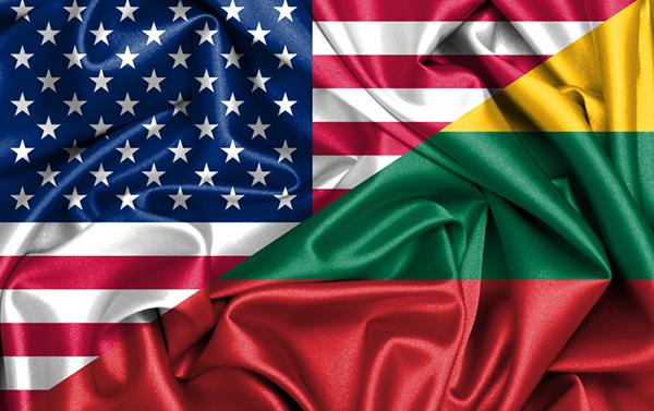 US-Lithunian Flag